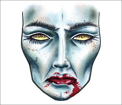 Mac Halloween Face Charts 11
