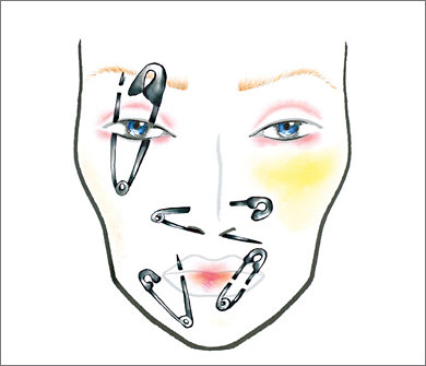 Mac Halloween Face Charts 13