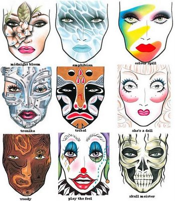 Mac Halloween Face Charts 20