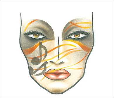 Mac Halloween Face Charts 6