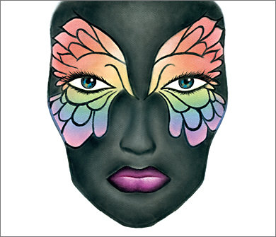 Mac Halloween Face Charts 7