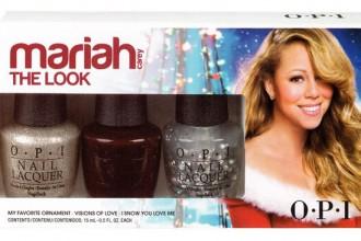 Este es el pack de 3 esmaltes de la colección Mariah Carey Holiday que yo tengo