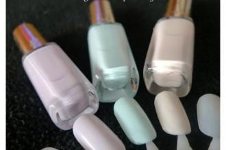 Esmaltes de uñas Les Blancs de L'Oréal: de izquierda a derecha: