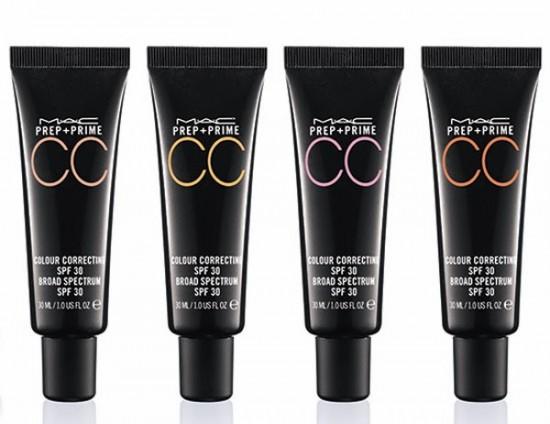 Los 4 tonos de la CC Cream Colour Correcting de MAC Cosmetics