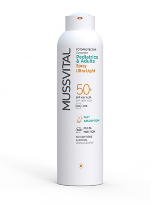 Spray Pediatrics & Adult Ultra Light SPF 50+ de Mussvital