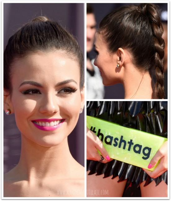 Victoria Justice en la gala de los MTV Video Awards 2014