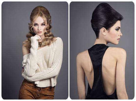 Dos de las imágenes de la colección de peluquería Love is in the Air de Eduardo Sánchez