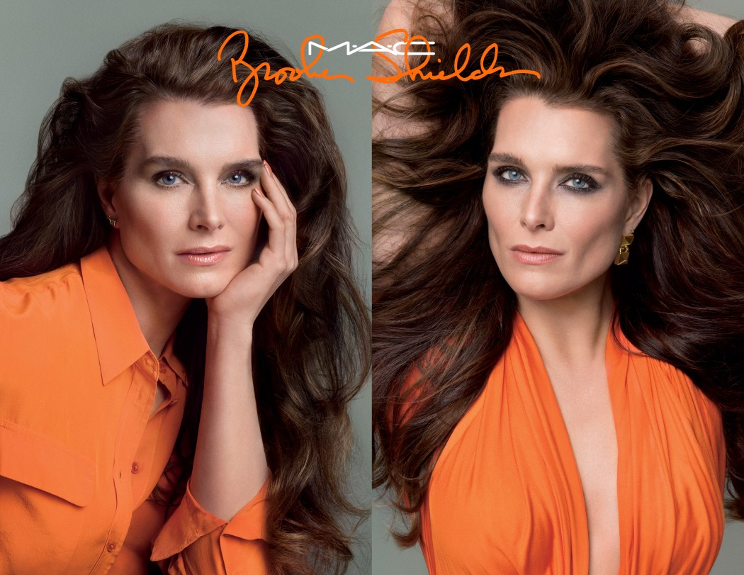 Brooke Shields para MAC Cosmetics