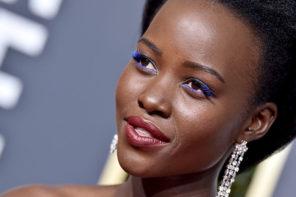 El maquillaje de Lupita Nyongo en los Globos de Oro