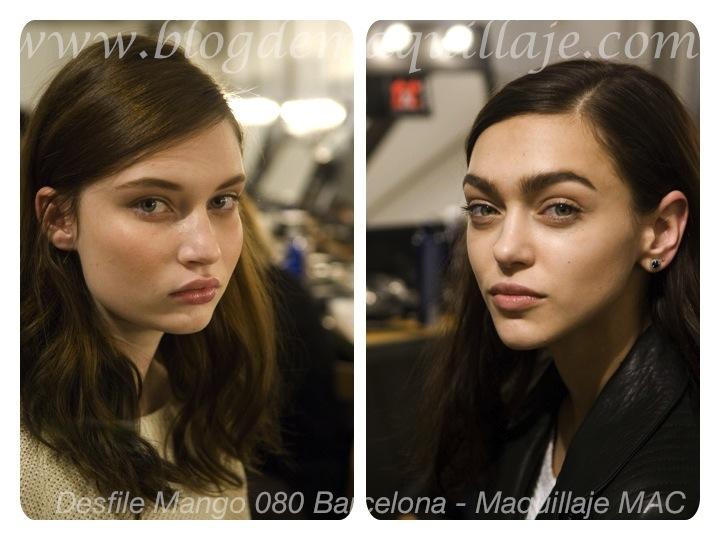 Maquillaje de MAC para el desfile de Mango en el 080 de Barcelona