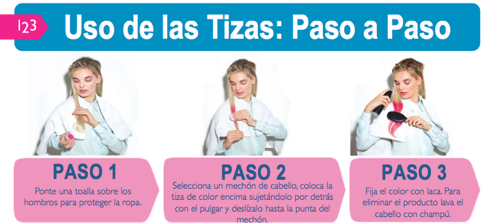 Tizas para el cabello de The Body Shop